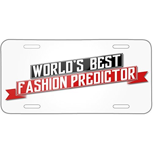 Price comparison product image Worlds Best Fashion Predictor Metal License Plate 6X12 Inch