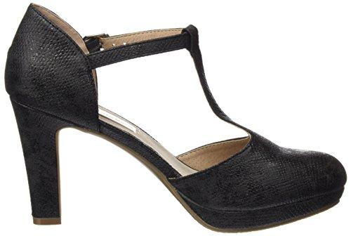 XTI 030569, Zapatos de Tacón con Punta Cerrada para Mujer Negro (Black)