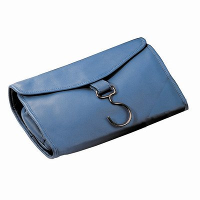 Royce Leather Hanging Toiletry Travel Bag in Genuine Leather Color: Royce Blue by Royce Leather