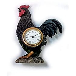 Home For ALL The Holidays Decorative Mini Desk Clock (Rooster)