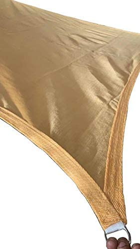 OldMacDonald 10 x 13 Sand Rectangle UV Block Sun Shade Sail Perfect for Outdoor Patio Garden