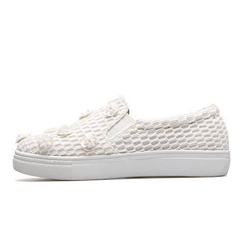 Holgazanes huecos de las mujeres/ensartar cuentas de flores/personalizada lazy/A los zapatos de pedal/zapatos casuales/zapatos planos B