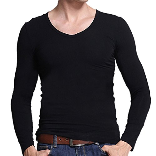 xl black thermal undershirt - 4