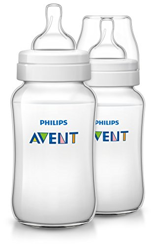 Philips Avent Anti-Colic Baby Bottles Clear, 11oz, 2 Piece
