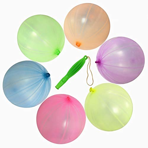 GuassLee 36PCS Punch Balls 12'' Round Punching Balloons Punch Balloon Party Decorations Kid's Girls Party Favors Assorted Neon Colors by GuassLee