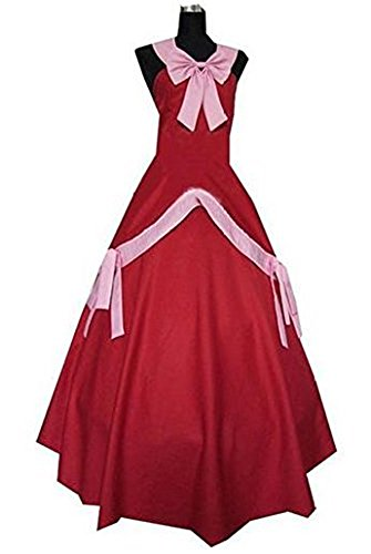 HOLRAN Fairy Tail Mirajane Strauss Red Dress Cosplay Costume (Custom Made, Red) for $<!--$79.99-->
