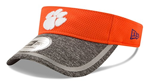 New Era NCAA Clemson Tigers Adult NE16 Training Visor, One Size, Orange by New Era