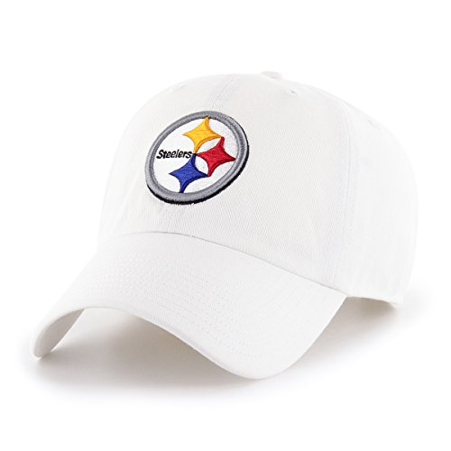 (OTS NFL Pittsburgh Steelers Male Challenger Adjustable Hat, White, One Size)
