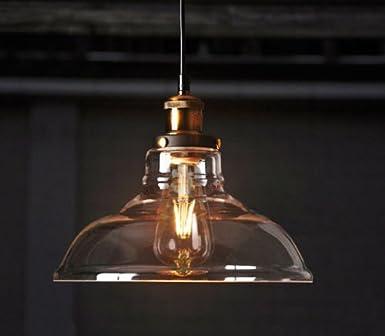 vintage ceiling lighting. feven vintage lighting industrial style edison 1 light glass shade ceiling pendant lamp fixture g