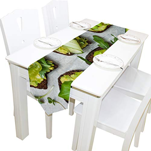 Menedo Table Cover Fragrant and Attractive Avocado Natural Table Runner Farm Tablecloths for Kitchen Indoor Coffee Table Decor Table Covers Bar Coasters 13x90 Inch ()