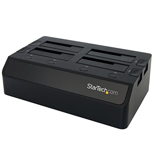 - StarTech.com USB 3.0 to 4-Bay Hard Drive Docking Station w/UASP & Dual Fans - Hot Swap 2.5/3.5in SSD/HDD Dock - SATA 6 Gbps