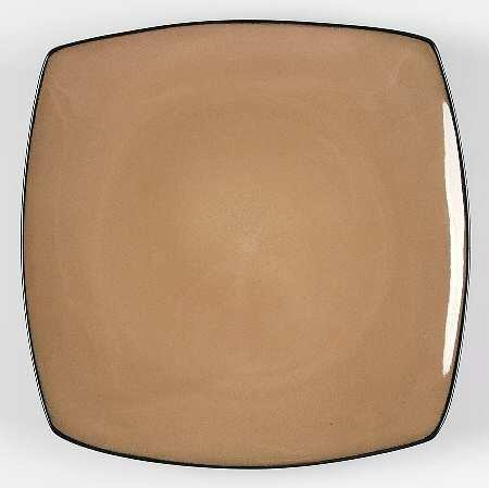 Gibson Designs Soho Lounge-Taupe Dinner Plate, Fine China Dinnerware