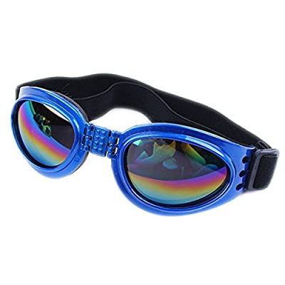 Dog Sunglasses Eye Wear Protection Waterproof Pet Goggles for Dogs about over 15 lbs by QPet
