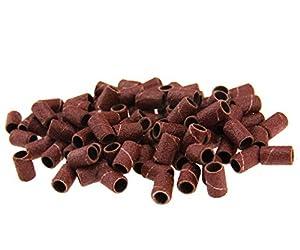 100PCS Pedicure Sanding Bands 120# Nail Drill Replacement Bits