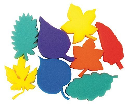 Creativity Street Dip and Print Leaf Sponge Set, 3 in, Set of 8 Creativity Street Sponge