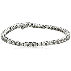 IGI Certified 18k Gold Diamond Tennis Bracelet (5.0 cttw, H-I Color, SI2-I1 Clarity), 7″