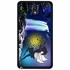 Cute Fairy at Waterfall Plastic Phone Case Back Cover Samsung Galaxy Note III 3 N9002 hjbrhga1544