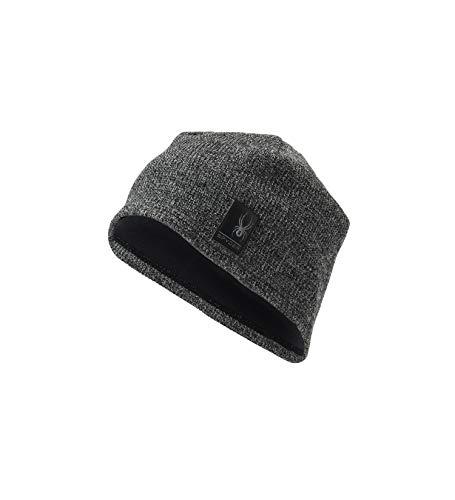 Spyder Men's Bandit Stryke Fleece Hat, Black/Alloy, Large/X-Large -