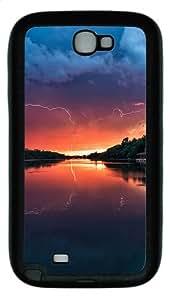 Samsung Galaxy Note II N7100 Case,Sunset Landscapes TPU Custom Samsung Galaxy Note II N7100 Case Cover Black