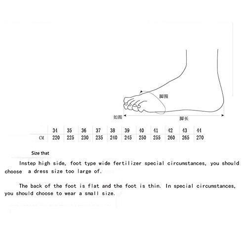 Las tamaño Zapatillas de del Color Las el Mujeres 37 otoño de Verano de de Primavera y Las Deporte Zapatillas Plata Zapatos la de Ocasionales Deporte UO4xggwqXH