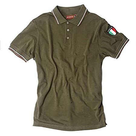 Polo de manga corta del ejército italiano con escudo de acción ...