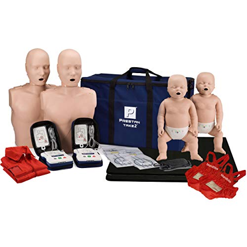 Prestan Take2 CPR Manikin & UltraTrainer Kit with Feedback (2-Adult, 2-Infant, 2-UltraTrainers) and MCR Medical Accessories