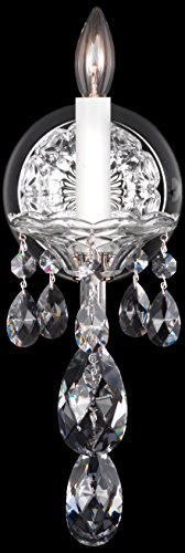 Schonbek 2990-40A Swarovski Lighting Sterling Wall Sconce, Silver