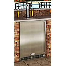"MO24BTS2LS 24"""" Built-in Twin-Tap Beer Dispenser with Half-Barrel Capacity 2 Stow-on-Board Refrigerator-Convertible Shelves Standard Door Lock 5 lb. CO2 Tank and Lo-Boy Coupler: Left Hinge"