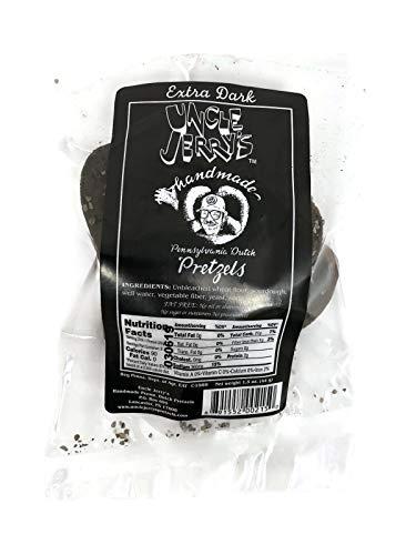 Uncle Jerry's Handmade Penna. Dutch Pretzels, Individual 1.5 oz. Snack Packs (Set of 8) (Extra Dark Regular Salt)