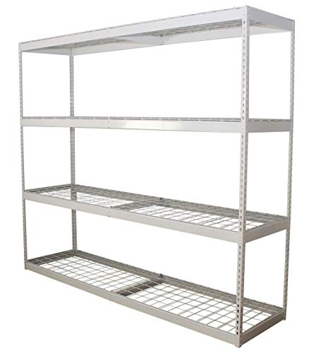 SafeRacks Freestanding Shelf | Steel Shelving Unit | 2'D x 8'W x 7'T