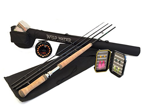 Wild Water Complete 7 Weight Switch Rod Fly Fishing Starter Package for Steelhead