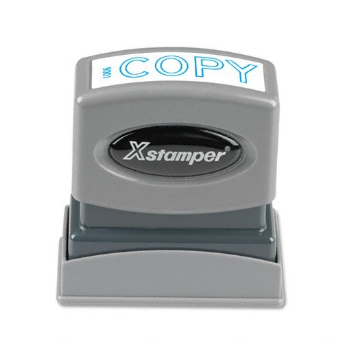 SHACHIHATA INC Copy Pre-inked Stamp, 1/2 x 1-5/8 Inches Impression, Blue Ink (XST1006)