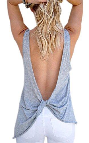 ASCHOEN - Camiseta sin mangas - Sin mangas - para mujer gris