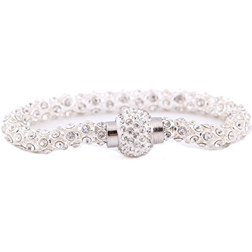 Shape Jade Crystal Award (Women's Silver Crystal Bracelet Best Design Fashion Bracelets For Women)