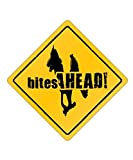 Scottish Deerhound Bites Ahead! centrado - Dogs [ Decorative Crossing Sign Wall Plaque ]