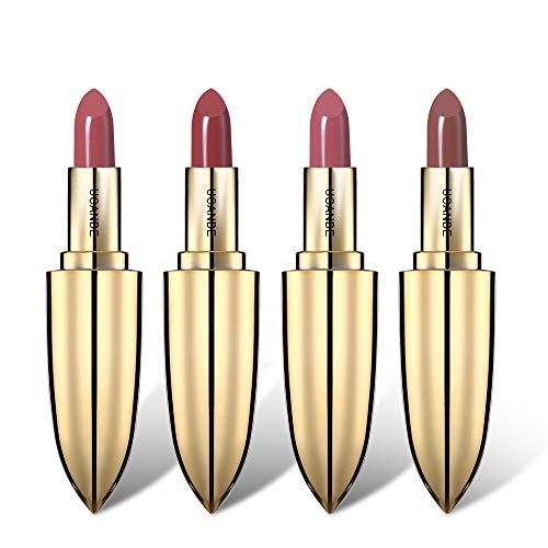 UCANBE Matte Lipstick Velvet Color Long Wear Lipstick Waterproof Makeup Cosmetics (Set of 4)
