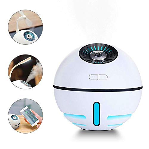 Karitke Portable Humidifier, 7 LED Warm Lights, Rechargeable Mini Humidifier for Bedroom Home Office Baby Camping, Silent USB Humidifier