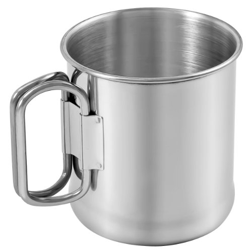 Chinook Timberline Single Wall Stainless Steel Folding Handles - Steel Timberline Stainless Mug