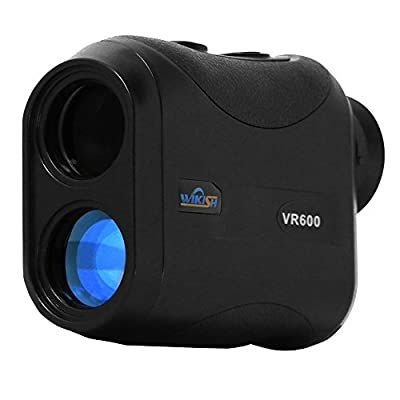 WIKISH Lase Rangefinder 650Yard 8x 25mm Range Finder for Hunting Golf Shooting Engineering Survey,Distance/Height/Angle Measure with Scan Function by WIKISH