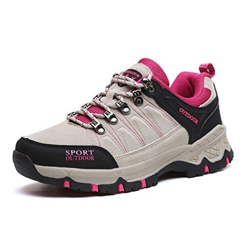 XIGUAFR Unisex botas gris adulto bajo caño de vBvxIqr