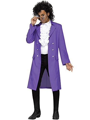 Rockstar Costume Ideas For Adults (Purple Pain 80s Pop Star Adult Costume)