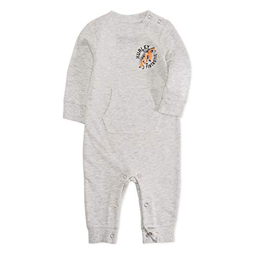 Hurley Baby Long Sleeve Coverall, Birch Heather, 9M]()