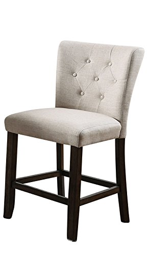 Amazon Com Homes Inside Out Palmys Pub Chair Ivory