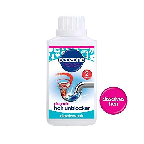 プラグホール髪閉塞除去250ミリリットル (Ecozone) (x 4) - Ecozone Plughole Hair Unblocker 250ml (Pack of 4) [並行輸入品] B01LZ910JW