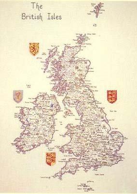The British Isles Map Cross Stitch Kit: Amazon.co.uk: Kitchen & Home