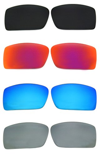 Set of 4 Polarized Replacement Lenses for Oakley Gascan Sunglasses - Sunglasses Oakley Gascan Lenses