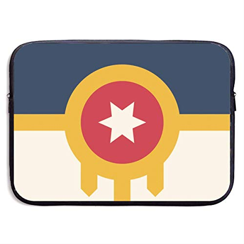 Flag of Tulsa Print Notebook Computer Case Fashion Laptop Bag Sleeve for 13-15 in IPad MacBook Surfacebook Notebook Ultrabook