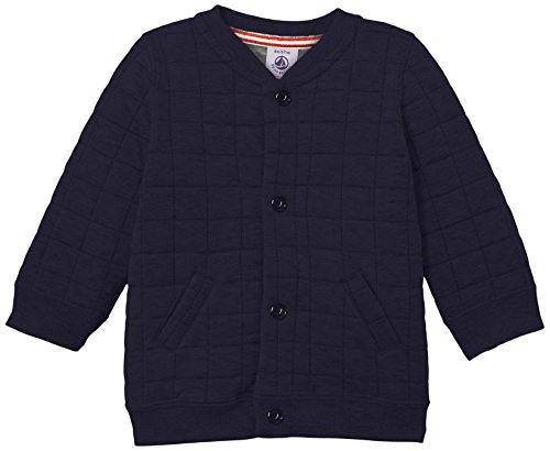 Petit Bateau Baby-Boys Newborn Quilted Light Jacket and Pant Set, Navy, 6 Months by Petit Bateau