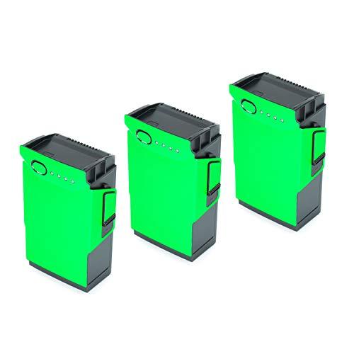 Wrapgrade Poly Skin for DJI Mavic Air | 3 Batteries (NEON Green)