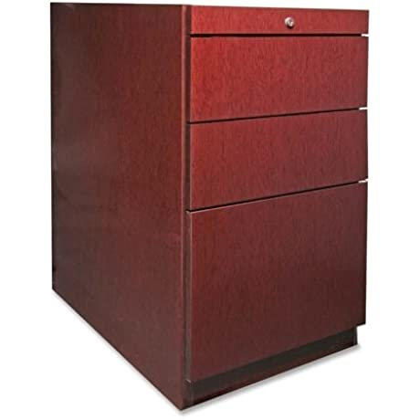 Lorell Pedestal Desk Box Box File 15 3 4 By 22 By 27 1 2 Inch Mahogany